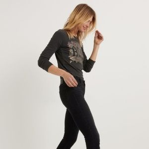 Lucky Brand Tops - lucky brand | acdc floral long sleeve tee